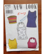New Look 6760 Sewing Pattern Easy Summer Tops 6-16 UNCUT - $4.66