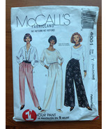 McCall's 8001 Sewing Pattern 1 Hour Pant XS-S-M - $6.79