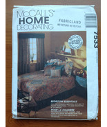 McCALLS 7533 Bedroom Essentials dust ruffle shams throw pillows sewing p... - $7.49