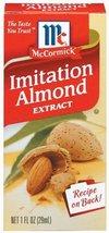 McCormick Imitation Almond Flavor, 1 fl oz (Pack of 6) - $34.60