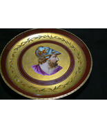 Antique Unique Design Plate Rust/Gold Soldier Greek Mythology with a Bra... - $989.99
