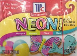 McCormick, Neon Food Coloring & Egg Dye, 1oz Box (Pack of 3) - $20.74
