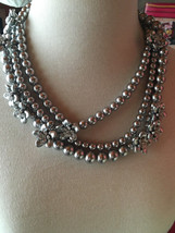 Fabulous Diva Heavy Color Pearl Rhinestone Flower Heavy Necklace NWT Ann Taylor - $70.00