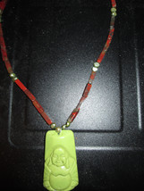 Smiling Buddha Beaded Necklace Bring Some Cheer Into Your Day - $45.00