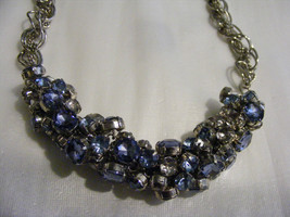 Ann Taylor Stunning Heavy Large Masses Of  Rhinestones Necklace Glitzy Bling - $40.00