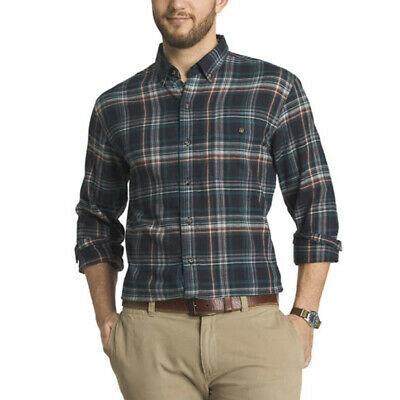 G.H. Bass & Co. Men's Long Sleeve Flannel Plaid Casual Button Up Shirt - M