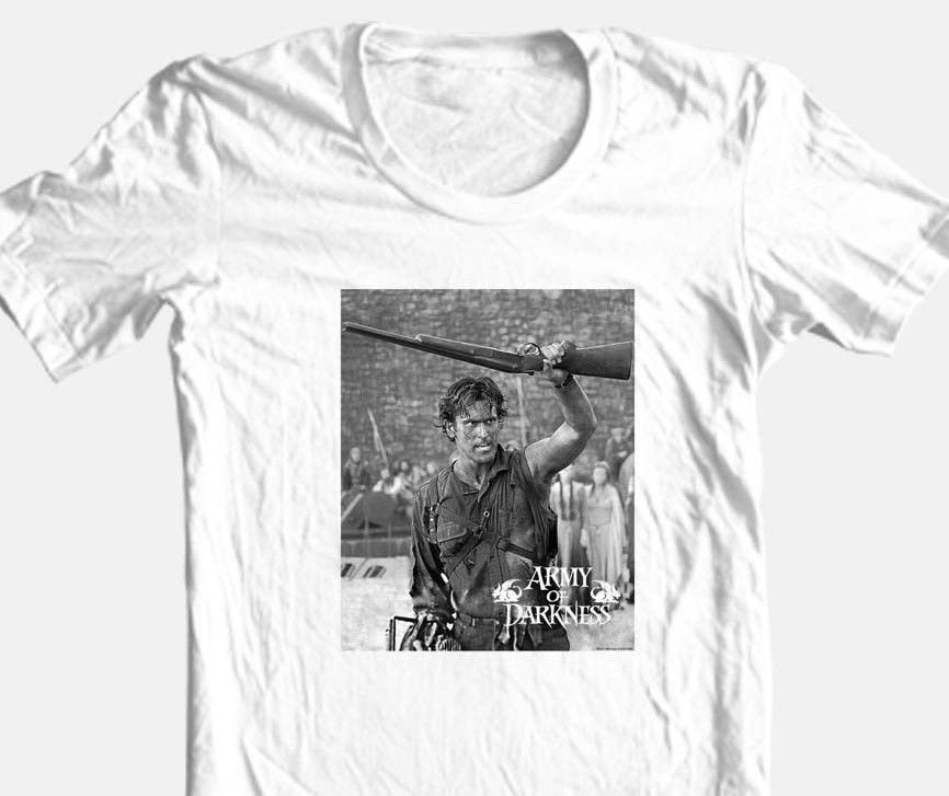 Army of Darkness T-shirt Boomstick Evil Dead horror movie 100% cotton tee MGM226