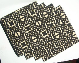 Mud Cloth Inspired Print Cloth Napkins Set of 4... - $26.17