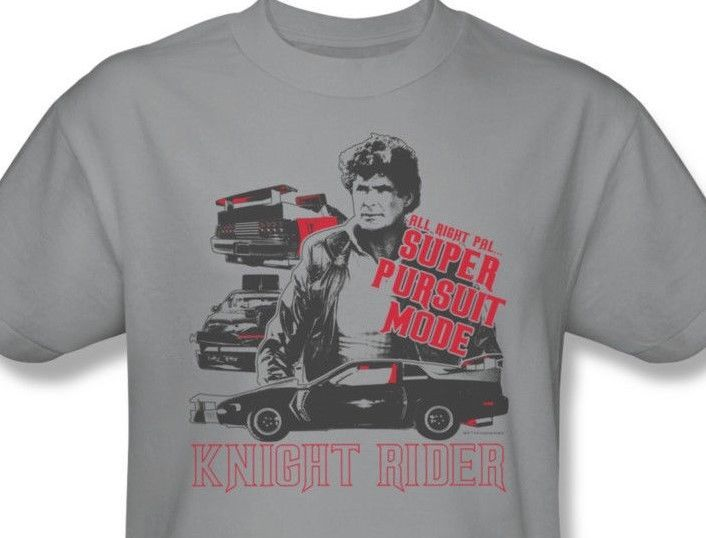 Knight Rider T shirt KITT David Hasselhoff retro 80's TV 100% cotton tee NBC196