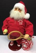 "Vintage Christmas Creations North Pole Tennis Club 16"" Santa Claus W/Sun... - $160.55"