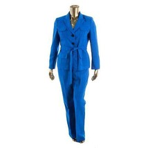 Le Suit New Womens Yacht Club Blue Woven 2PC Pant Suit  18   $200 - $43.99