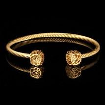 U7 Rose Flower Bracelet Jewelry Women Gift Gold/Silver Color Luxury Zirc... - $17.14