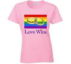 Gay Marriage Ladies T Shirt Love Wins LGBT Civil Rights Equality Hope Tee New - $15.96+