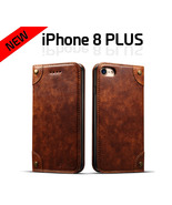 Top Quality iPhone 8 PLUS Luxury Genuine Leather Flip Wallet Card Case C... - $19.99
