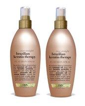 Organix Ever Straight Brazilian Keratin Therapy Flat Iron Spray, 6 Ounce... - $28.62