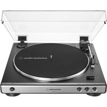 Audio Technica AT LP 60X Gunmetal Turntable Fully Automatic Stereo Record Player image 1