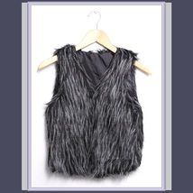 Long Hair Peacock Feather Faux Fur Fashion Short Vest - FUN to Wear! image 3