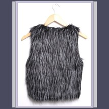 Long Hair Peacock Feather Faux Fur Fashion Short Vest - FUN to Wear! image 4