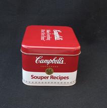 CAMPBELLS SOUPER RECIPES  COLLECTOR TIN - $16.14