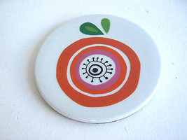6'' Round Ceramic and Cork Fruit Motif Trivet Thanksgiving - $7.99