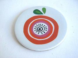 6'' Round Ceramic and Cork Fruit Motif Trivet Thanksgiving - $7.99