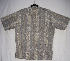 Cooke Street Hawaiian Shirt XL 100% Cotton Reverse Print Floral - $14.03
