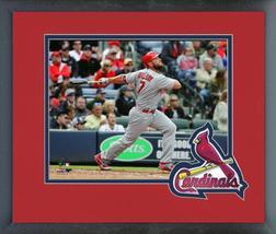 Matt Holliday 2016 St. Louis Cardinals- 11 x 14 Team Logo Matted/Framed Photo - $42.95