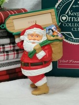 HALLMARK Christmas Ornament 1989 Collector's Club Visit From Santa Personalized - $11.88
