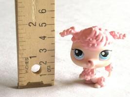 LPS Littlest Pet Shop Pink Poodle Dog 48 French Blue Dot Eyes Puppy Pup  - $158,89 MXN