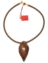 Necklace Antica Murrina Venezia, CO141A30, Tail Peacock,Feather Pendant,Murano image 2