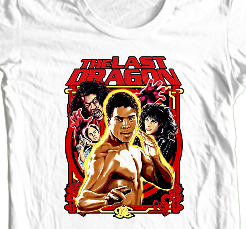The Last Dragon (Barry Gordy's) T-shirt retro 80's movie 100% cotton graphic tee