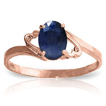 Brand New 1 CTW 14K Solid Rose Gold Rings Natural Sapphire - £117.74 GBP