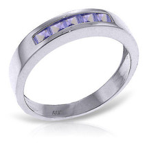Brand New 0.5 CTW 14K Solid White Gold Rings Natural Tanzanite - £252.41 GBP