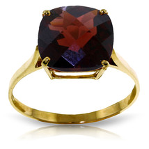 Brand New 4.5 CTW 14K Solid Gold Ring Natural Checkerboard Cut Garnet - £242.59 GBP
