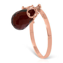 Brand New 3 Carat 14K Solid Rose Gold Ring Dangling Briolette Garnet - £118.00 GBP