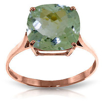 Brand New 3.6 CTW 14K Solid Rose Gold Spellbound Green Amethyst Ring - $249.14