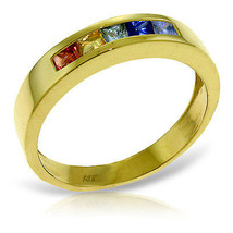 Brand New 0.6 CTW 14K Solid Gold Rings Natural Multicolor Sapphire - $340.78