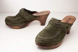 Michael Kors 9 Green Mules Women's Platform Shoe - $39.00