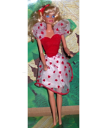 Barbie Doll 1976 - Valentine Barbie - $8.75