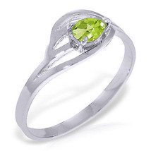Brand New 0.3 CTW 14K Solid White Gold Small Stuff Peridot Ring - $215.18