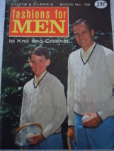 Coats & Clark's Fashions for Men to Knit and Crochet Pattern Booklet 1965 - $3.99