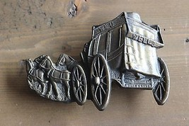 Vintage Wells Fargo Stage Coach Belt Buckle - $29.70