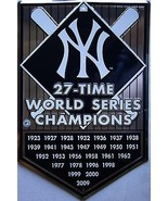New York World Series Champions Embossed Metal Sign - $18.95
