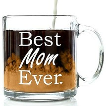 Glassware Gift Ideas Unique Glass Coffee Tea Cup Mug Best Mom Wife Grandma  - $24.95