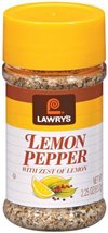 Lawry's Lemon Pepper with Zest of Lemon, 2.25 -Ounce Shakers (Pack of 6) - $38.99