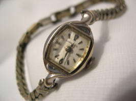 L47, Caravelle, Ladies Winding Watch, 10k R.P.G back and band, It Works!  - $39.59