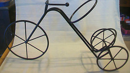 METAL TRICYCLE SINGLE WINE BOTTLE HOLDER, GUC - $49.49