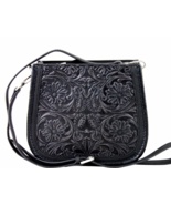 Delila Genuine Leather Tooled Cross Body Purse ... - $89.00
