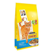 DRY CAT FOOD 10Kg Go-Cat Adult Tuna Herring & Vegetable Mineral Protein ... - $33.17