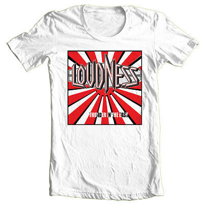 Loudness T shirt 80's heavy metal rock concert retro 100% cotton printed tee